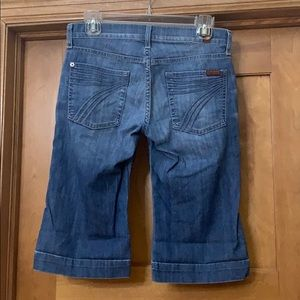 7 For All Mankind Dojo Bermuda Jean Shorts 27